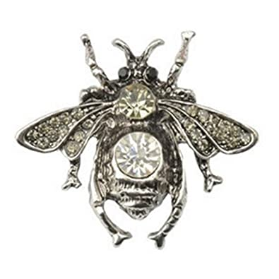 7810bcbaf TOOGOO(R) Vintage Inset Bee Brooch Pin Rhinestone Bee Brooches Small ...