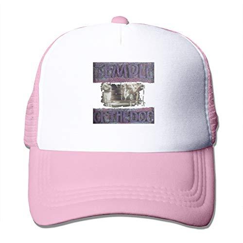 AiFuShi Classic Baseball Cap,Temple-of-The-Dog Adjustable Two Tone Cotton Twill Mesh Back Trucker Hats Pink ()