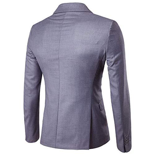 Hombres N Boda Traje Esmoquin De La Estilo Hellgrau Hombre Un Botón Elegante Los Slim Fit Blazer Simple Chaqueta Tops axEqT6X