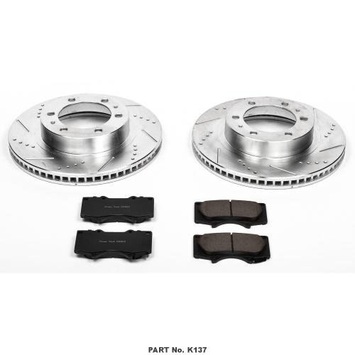 Power Stop K137 Front Z23 Evolution Brake Kit with Drilled/Slotted Rotors and Ceramic Brake (Disc Brake Kit Part)