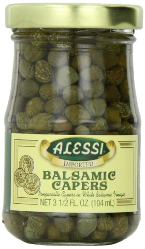 Alessi Capers in Wht Balsm Vngr, 3.50-Ounce (Pack of 6)