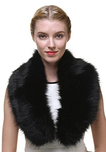 Vogueearth WomenFaux Fur Neck Scarf For Winter Coat Collar