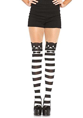 Leg Avenue Womens Fancy Striped Cat Tights