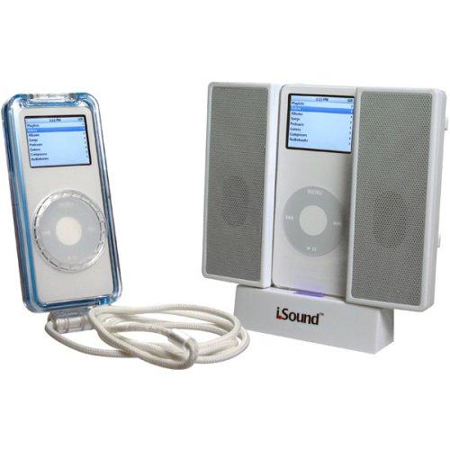 - DreamGear iSound 2-in-1 Speaker/Case Bundle for iPod nano 1G (White)