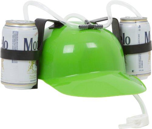 Beer and Soda Guzzler Helmet (Green)