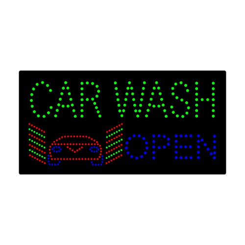 LED Car Wash Open Light Sign Super Bright Electric Advertising