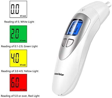 Ketone Breathalyzer, Ketogenic Breath Ketosis Breath Ketone Analyzer with 10 Mouthpiece(White) 2
