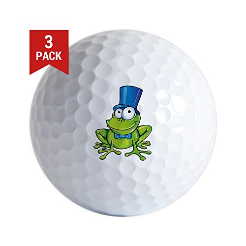 Golf Balls (Set of 3) Frog with Top Hat