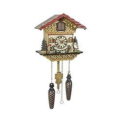 Quartz Cuckoo Clock Swiss house with music, incl. batteries TU 4226 QM