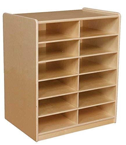 Wood Designs WD17269 (12) 3 Letter Tray Storage Unit without Trays [並行輸入品] B07N8C8M9K