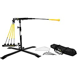 Sklz Hurricane Category 4 Batting Trainer, Solo Swing Trainer For Baseball & Softball, Tee Practice Or Dynamic Moving Target, Adjustable Height For Any Player Or Ball Position, Develop Swing Power