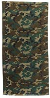 Woodland Camo Military Beach Towel