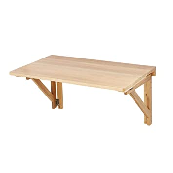 TXX Mesa de comedor plegable Mesa de estudio de madera maciza Mesa ...