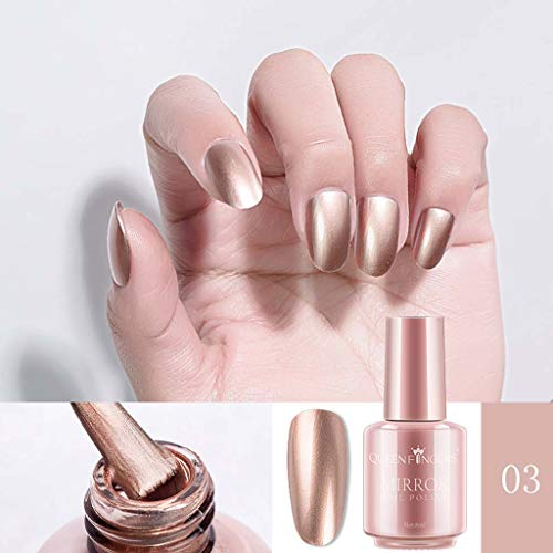 Nails Art,Mirror Nail Polish Plating Silver Paste Metal Color Stainless Steel Mirror Silve,Professional, Nail Art - Plating Color