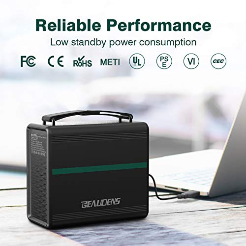 BEAUDENS 166Wh Portable Power Station, Lithium Iron Phosphate Battery, 2000 Cycles, 10 Years Battery Life, with Multiple Ports, Perfect for Tablet, Laptop, Appliances Use by BEAUDENS (Image #5)