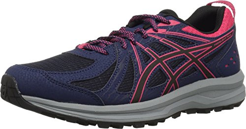- ASICS 1012A022 Women's Frequent Trail Running Shoe, Peacoat/Pixel Pink - 8.5