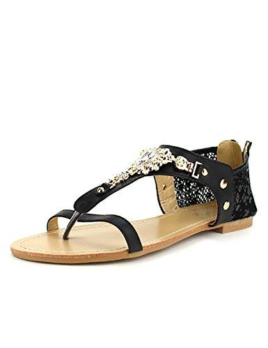 Cink Noire Noir Femme Cendriyon Chaussures Me Dentelle Tong 8RqSx8w5ft