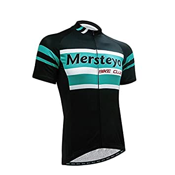 0537cb05e Mersteyo Cycling Bike short Sleeve Clothing Set Bicycle Men Wear Suit Jersey  Set  Amazon.co.uk  Sports   Outdoors