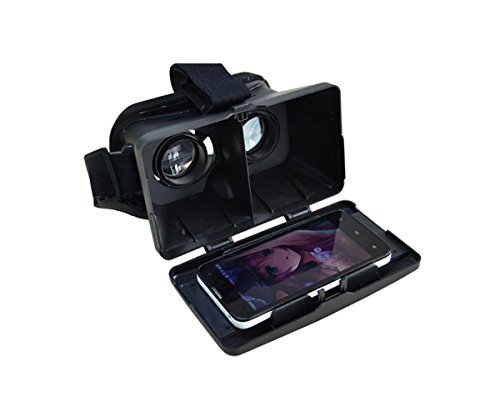 Plastic Version Google Cardboard 3D VR Virtual Reality Glasses Head Mount 3D Video Glasses by EasyLife