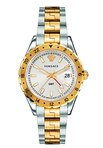 Versace Men's 'HELLENYIUM GMT' Swiss Quartz Stainless Steel Casual Watch, Color:Two Tone (Model: V11030015)