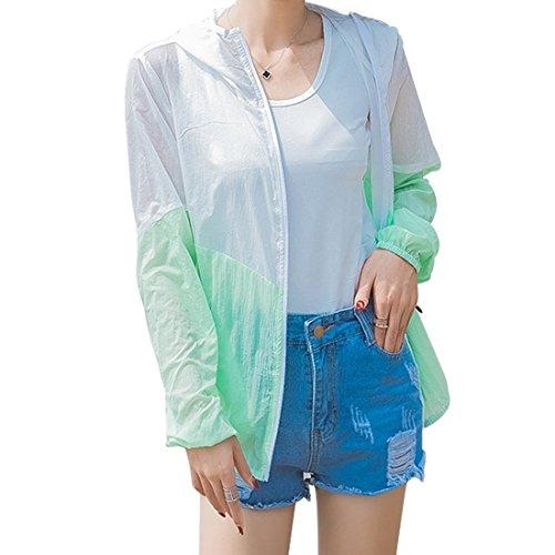 日焼け止め服 レディース  薄手 透け感 ゆったり 紫外線防止 防撥水 戸外 長袖 カーデ パーカー 上着