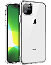 SKYLMW iPhone 11 Pro MAX Case, Shockproof Protection Thin Slim Soft TPU Bumper Protective Phone Cover Cases with for iPhone 11 MAX Pro 6.5 inch,Crystal Clear