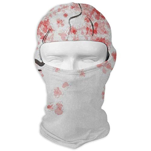 - Full Face Mask Hood Motorcycle Soft Japanese Pink Cherry Tree Blossom Headwear Balaclava Ski Cycling Hat