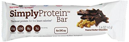 Просто Протеиновый батончик арахисовое масло шоколад, 1,4-Унция Бар (в упаковке 15)