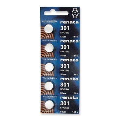 (Renata 301 SR43SW Watch Batteries (5pcs))
