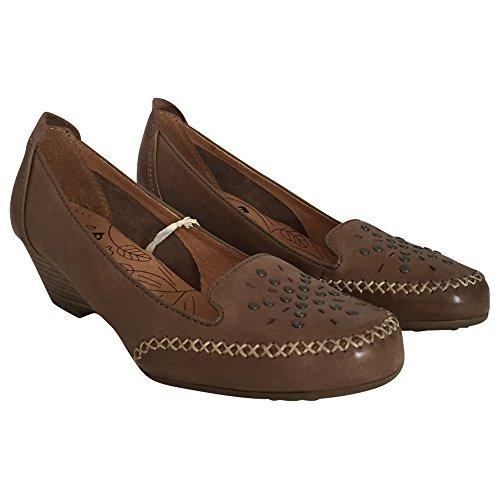 Jana Mujer Pumps marrón, piel, H, extra ancha 1132105/4.0 Marrón - marrón