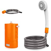 MyArTool Portable Outdoor Camping Shower Set Built-in 4400mAh USB Rechargeable Battery