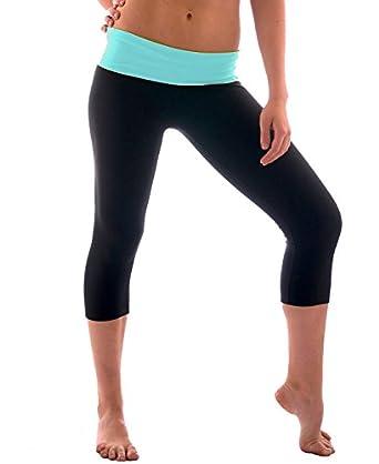 Amazon.com: Women's Slimming Foldover Capri Crop Yoga Pants: Clothing