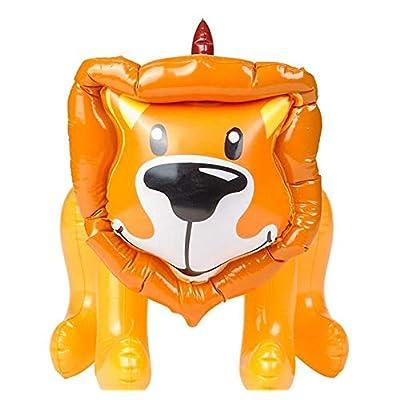 Rhode Island Novelty Inflatable Safa Jungle Zoo Lion Animal, Brown & Orange, 24 Inch: Toys & Games
