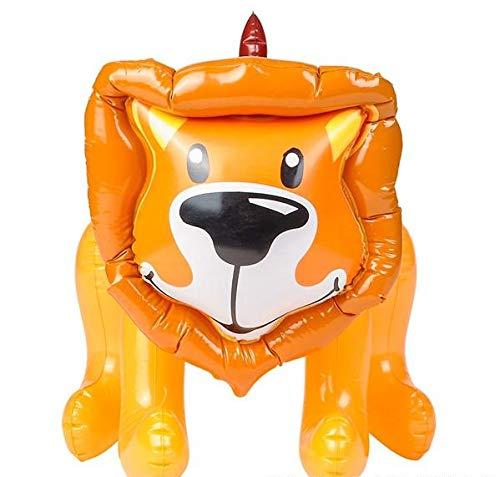 Rhode Island Novelty Inflatable Safari Jungle Zoo Lion Animal, Brown & Orange, 24