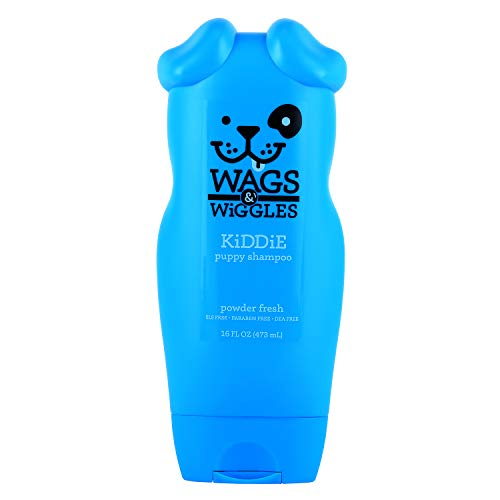 Wags & Wiggles Kiddie Puppy Shampoo in Powder Fresh Scent | Tearless Puppy and Dog Shampoo, 16 Ounces