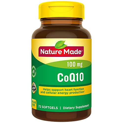 Nature Made CoQ10 100 mg Softgels, 72 Count Value Size for Heart Health† (Packaging May Vary) ()