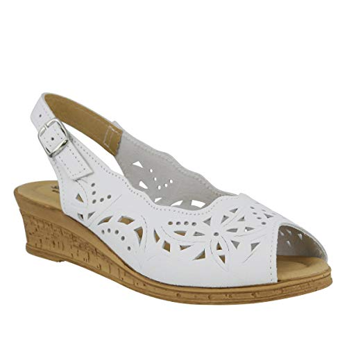 Spring Step Women's Orella Slingback Sandal,White,40 EU/9 M US