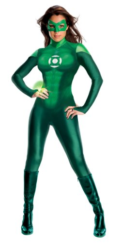 Secret Wishes Women's Green Lantern Costume, Green, -