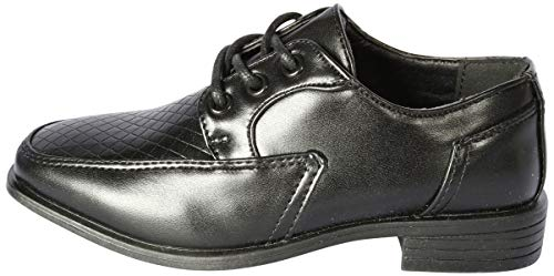 Image of Jodano Collection Boys Memory Foam Lace up Dress Shoe, Black, 6 M US Big Kid'