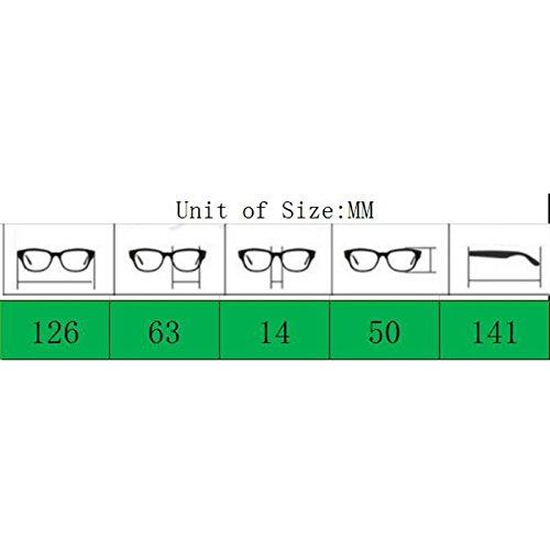 YWL Green blue redondo de marco Gafas con y unisex Transparent Vintage Lamdoo para sol de espejo metal Retro Black gafas CwqUH4SZ