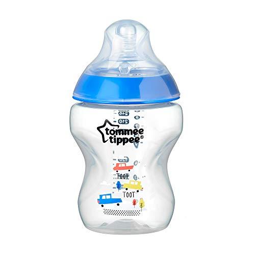 Tommee Tippee Babyflasche Closer to Nature, Ventil Anti-Kolik, Superweicher Sauger