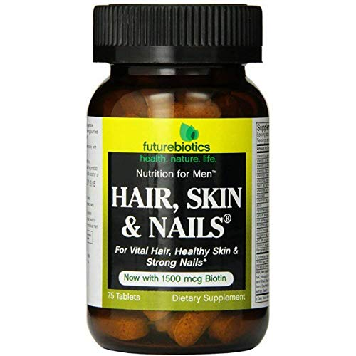 - Futurebiotics Hair Skin Nails For Men Tablets, 75-Count