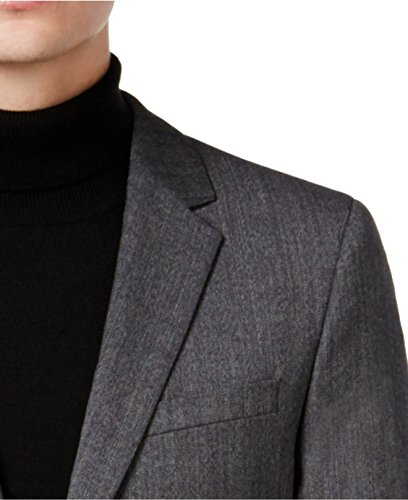 Hugo Boss Astian/Hets Extra Slim Fit 2 Piece Men's 100% Virgin Wool Suit Melange Herringbone 50320624 033 by HUGO (46 Regular USA Jacket / 40 Waist Pants) by HUGO BOSS (Image #4)