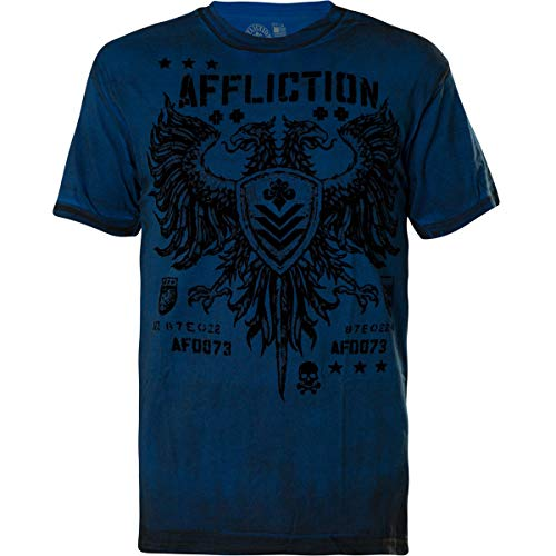 Affliction Cobalt Blue Reactive T-Shirt | Mens Short Sleeve MMA Tee | ()