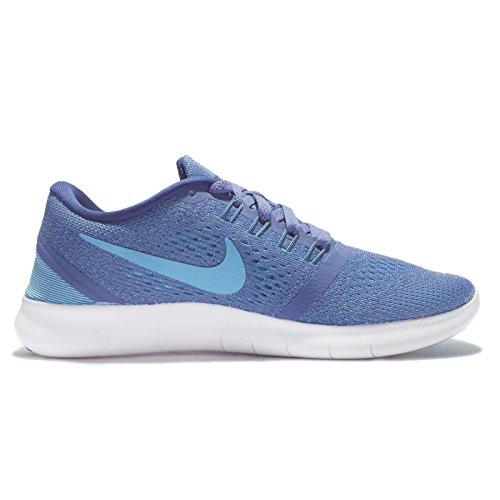 Nike Free Rn Blue Moon / Gepolariseerde Blauw / Kust Vrouwen Van Loopschoenen