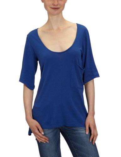 Bobi - Camiseta con cuello redondo de manga 3/4 para mujer Morado (Electric)