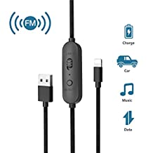 FM Transmitter for iPhone 7/7 plus, Car Radio Adapter Receiver, Wofalodata Audio + Charger + Sync Data FM Transmitter Lightning Connector for iPhone 7/7 plus,6s/6 plus,iPad and others
