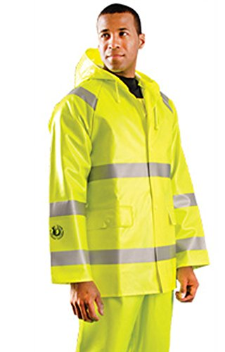 Stay Warm - Premium Flarme Resistant Rain Jacket - Class 3 - LARGE-EACH by Haynesville