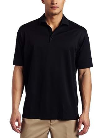 NIKE Men's Stretch UV Tech Solid Golf Polo, Black, Small