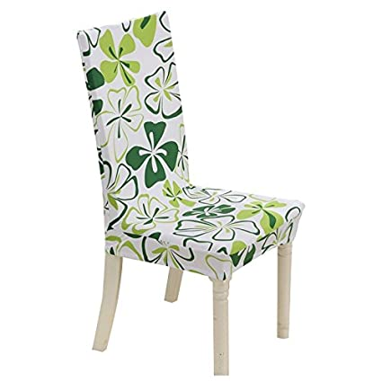 SODIAL(R) Floral Print Chair Cover Home Dining Elastic Chair Covers  Multifunctional Polyester Elastic
